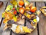 Podzimní věnec z listí - podzimní dekorace