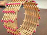 Kolečko ze zápalek - jak vyrobit kolečko ze zápalek