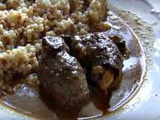 Hovězí na houbách - recept na hovězí roštěnec na houbách