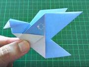 Papírový pták - jak poskládat ptáka z papíru