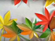 Podzimní listy - jak si udělat origami listy z papíru