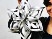 Sněhová vločka z papíru - papírová vločka