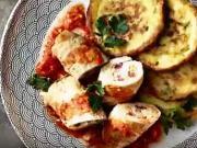 Plněné závitky s bramborovými plackami - recept