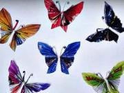 Motýli z papíru - jak vyrobit papírové motýli z novin