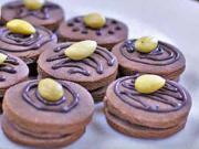Kakaové cukroví s čokoládou a mandlí - recept