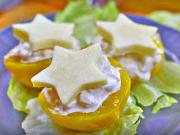 Kuřecí salát s broskvemi a sýrem - recept