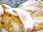 Pečené jablka v županu plněné citrusovo-oříškovou náplní - recept