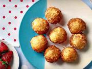 Tvarohové koblihy - recept na tvarohové koblihy s jahodovou pěnou
