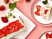Nepečený jahodová roláda - recept na jahodovou roládu