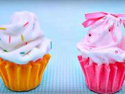 Cupcake jako košík na šperky - odkládací košík ve tvaru cupcake