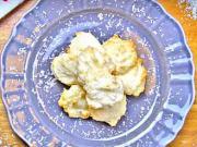 Kokosky z bílkového sněhu s citrónovou šťávou  - recept na kokosky