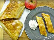 Jablečný závin z listového těsta - recept na jablečno-ořechovy štrúdl