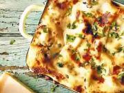 Lasagne s mletým masem a ořechy - recept