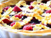 Malinový koláč - recept na mřížkový koláč s džemem a malinami