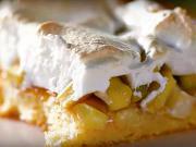 Rebarborový koláč se sněhem - recept na rebarborový koláč