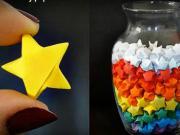 Hvězdy z papíru - jak poskládat papírové hvězdičky