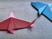 Delfín z papíru - jak poskládat papírového delfína