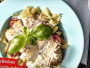Těstoviny s cuketou a krůtí masem - recept