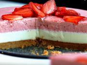 Jahodový dort s bílou čokoládou - recept