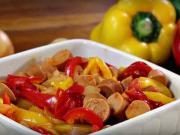 Veganské lečo - recept na veganské lečo se sójovými párky