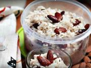Rýžová kaše - recept na rýžovou kaši s mandlemi a rozinkami
