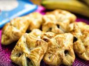 Domácí šátečky z listového těsta - recept na šatičky s čokoládou a banánem