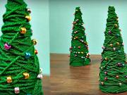 Mini vánoční stromek - 2 návody na mini vánoční stromeček