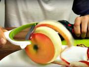 Loupání jablka vrtačkou - rychlé loupání jablek