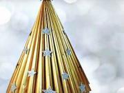 Vánoční stromek z papiru - papírový vánoční stromek
