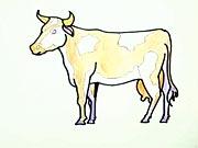 Krávička - jak se kreslí kráva, jak nakreslit krávu, kravku