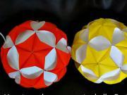 Koule z papíru (1.část) - papírová koule (1/2)