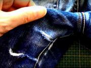 Záplata kalhot - jako zašít díru na kalhotách