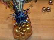 Dekorace z vánočních koulí - vánoční výzdoba
