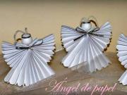 Anděl z papíru - jak vyrobit papírových andělů