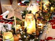 inspirace na slavnostní stolování - Vánoční výzdoba 31
