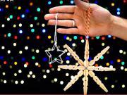 Vánoční hvězda ze kolíčků - Vánoční ozdoby ze kolíčků na prádlo
