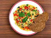 Špenátová omeleta - recept