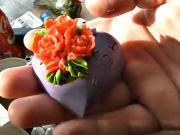 Domácí mýdlo s barevnými růžičkami