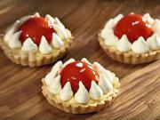 Valentýnský jahodový koláč - recept
