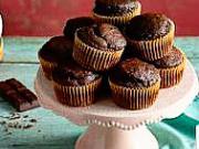 Čokoládové muffiny - recept na čokoládově - banánové muffiny