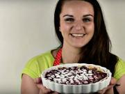 Třešňový koláč s tvarohem - recept