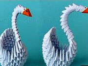 Labuť z papíru - jak si vyrobit papírovou labuť