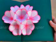Pozdrav s 3D květem