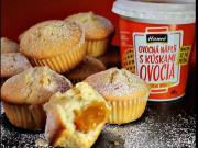Jogurtové muffiny plněné ovocnou náplní - recept