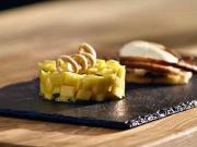 Mango tataráčik s limetkovou pěnou - recept