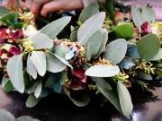 Věnec z eucalypthusu a hortenzie