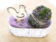 Návod na velikonoční vajíčko z přírodního mechu - tutorial DIY