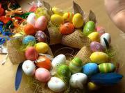 Věneček z velikonočních vajíček