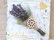 Voňavý obrázek s levandulí - tutorial DIY