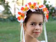 Návod na květinovou čelenku